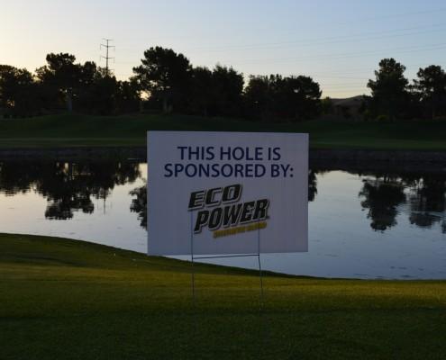 Thank You Eco Power Hole Sponsor