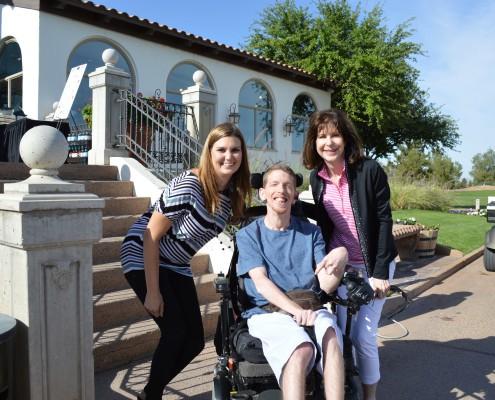 Tiffany, Mattie and Sally enjoying the start of a joyous day!