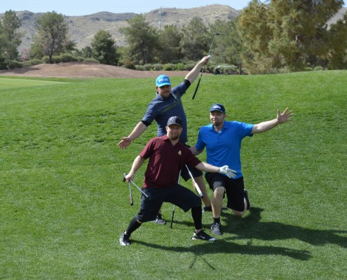 Tyler Voyles and Friends heading to hole 19